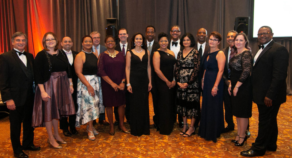 The OMSDC Board of Directors gather during the 2018 Annual Awards Gala on November 16 at the Savannah Center in West Chester, Ohio.