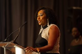 NMSDC President & CEO Adrienne Trimble addresses the crowd at the 2018 Annual Awards Gala.